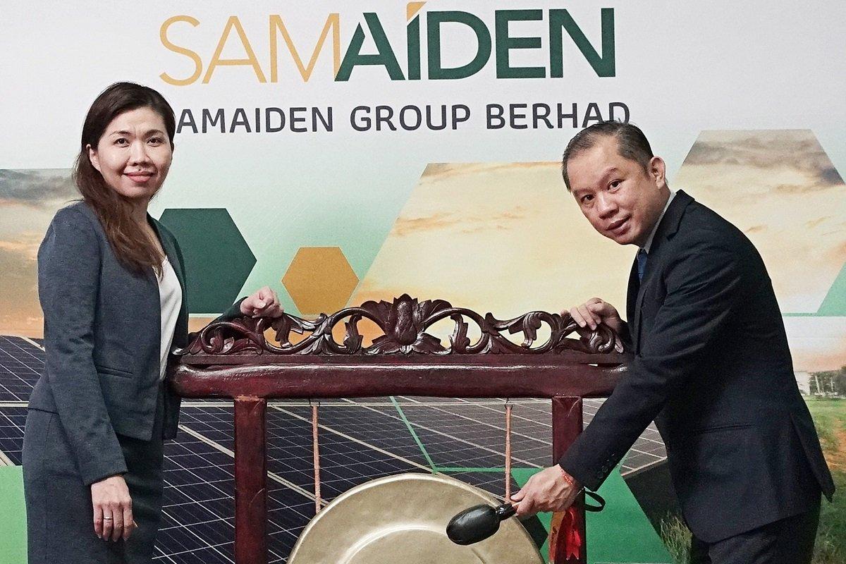 周佩仪(左)与Samaiden执行董事冯裕欢。